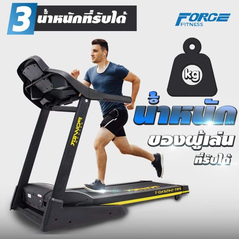 น้ำหนักของผู้วิ่งที่รับได้