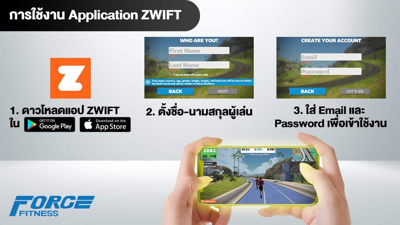 การใช้งาน zwift กับลู่วิ่งไฟฟ้า