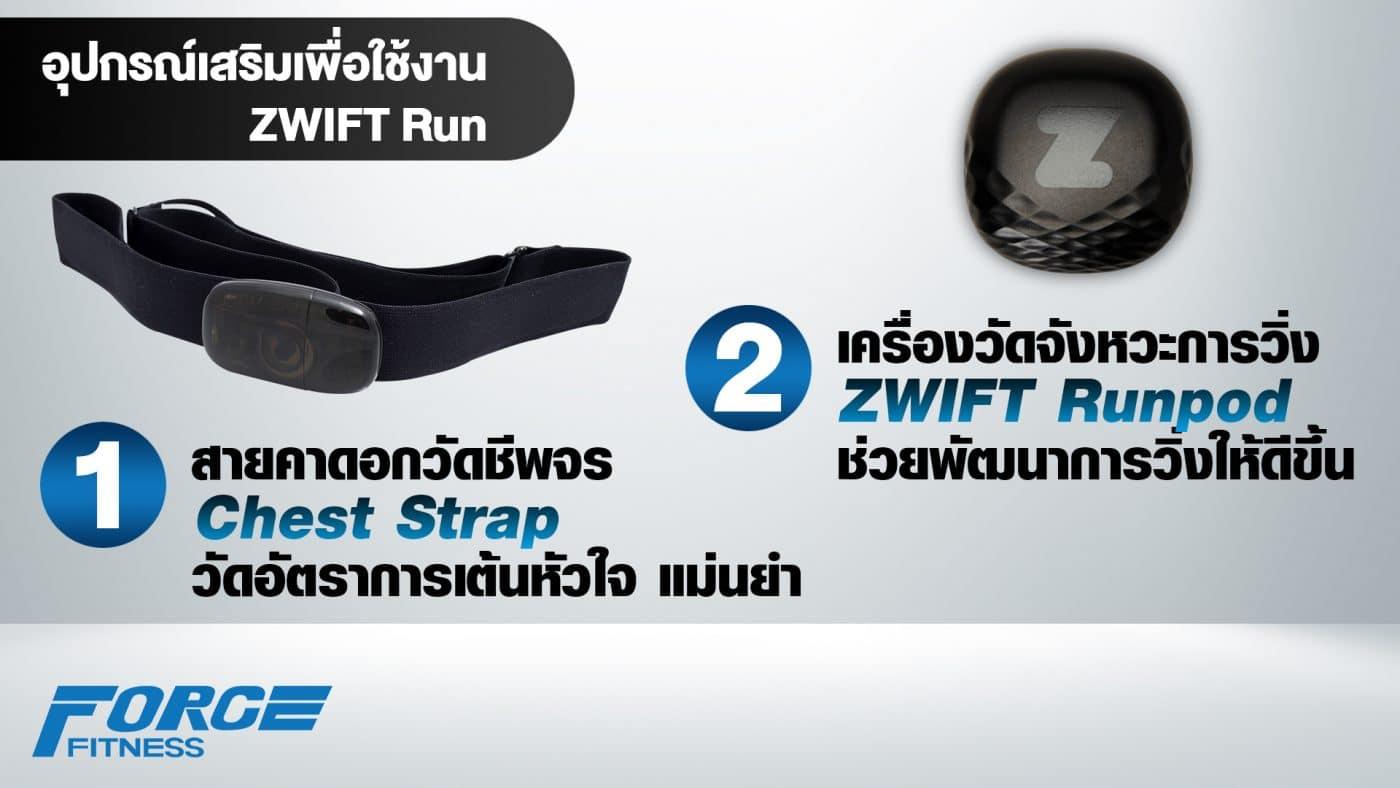 อุปกรณ์เสริมเพื่อใช้งาน zwift กับลู่วิ่งไฟฟ้า